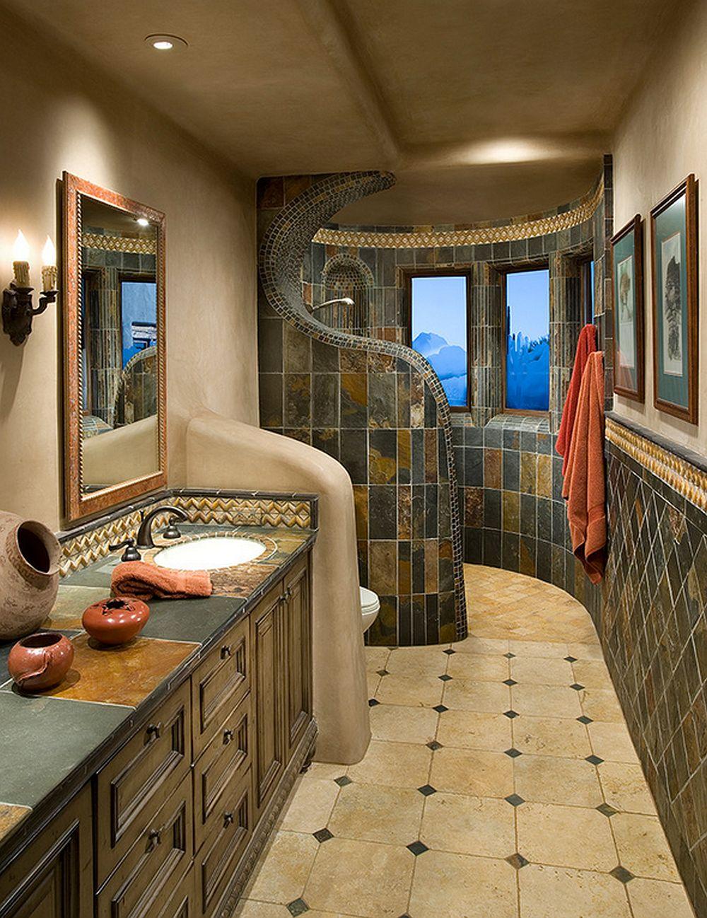 adelaparvu.com despre casa pe rotund cu piscina, casa de lut si lemn, casa americana, arhitect Lee Hutchison UDA, interior design Bess Jones, Foto Dino Tonn (7)