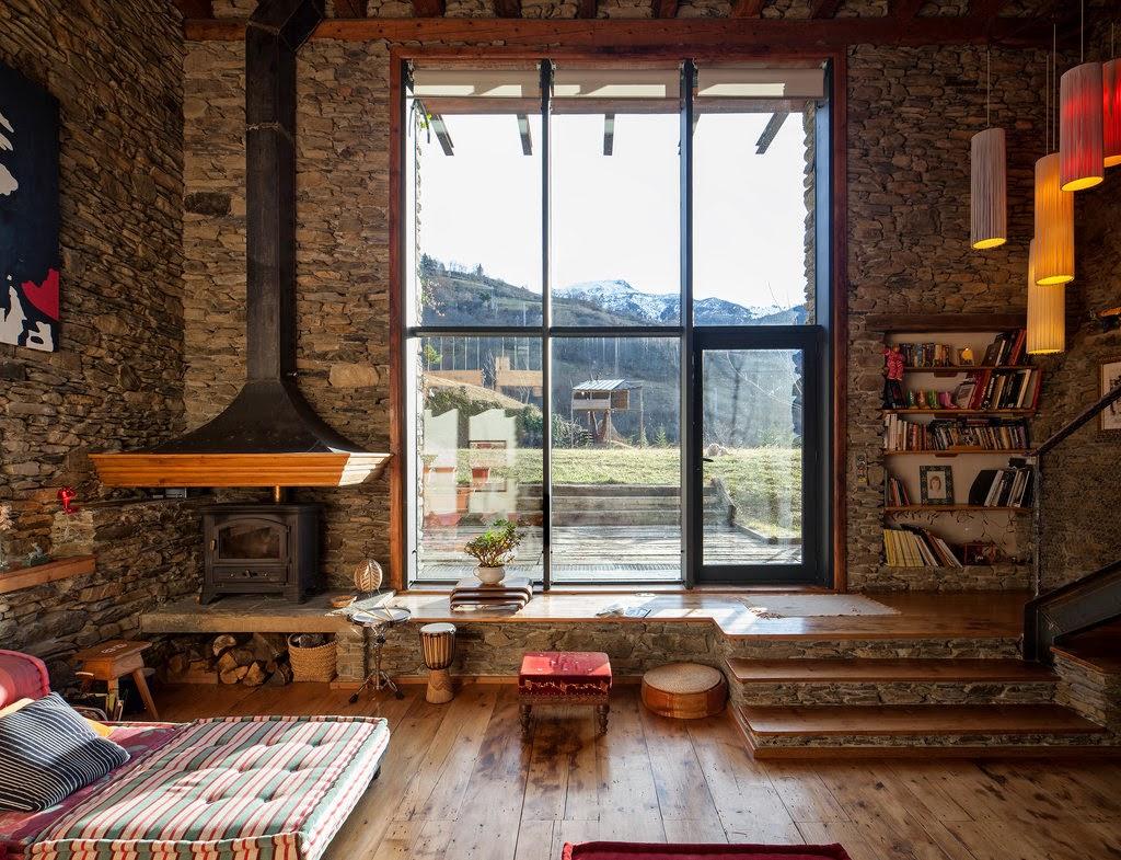 adelaparvu.com despre casa rustica cu interior modern in muntii Pirinei, Spania, Foto Hikarifoto (15)