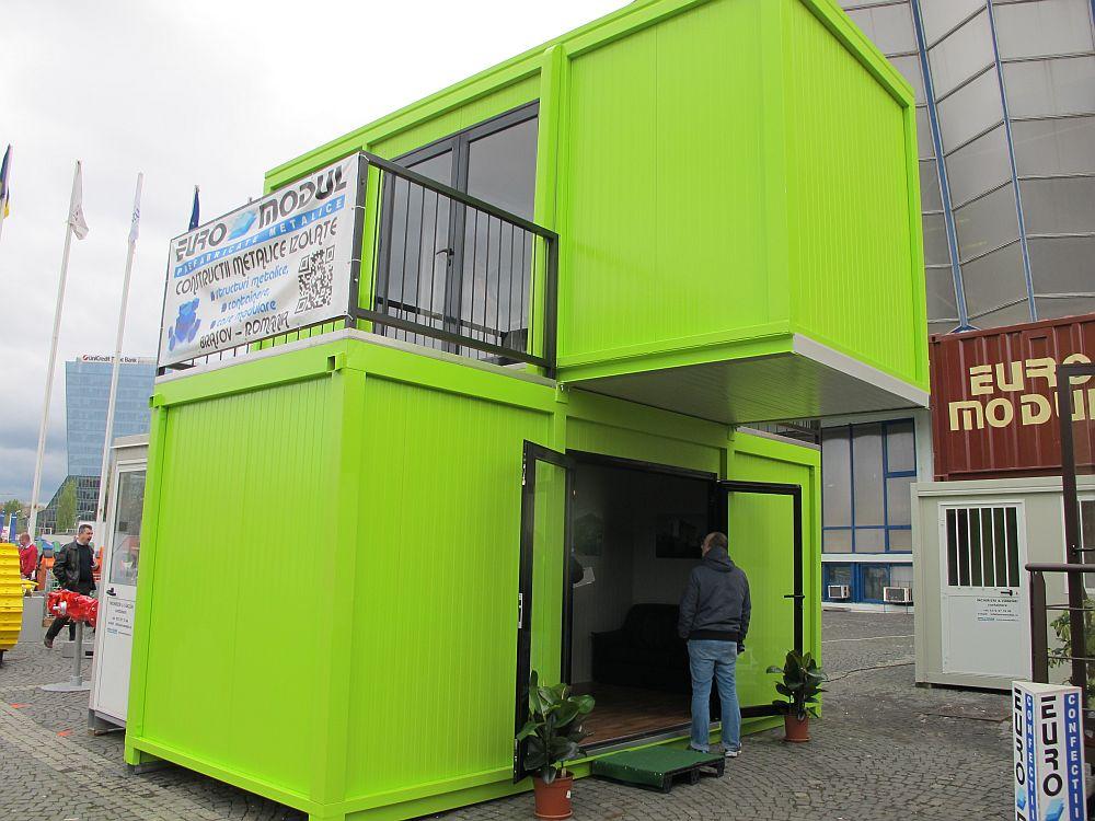 Casa din containere, dar nu maritime, de la Euro Modul, 24 mp la interior, pret 14.800 euro +TVA