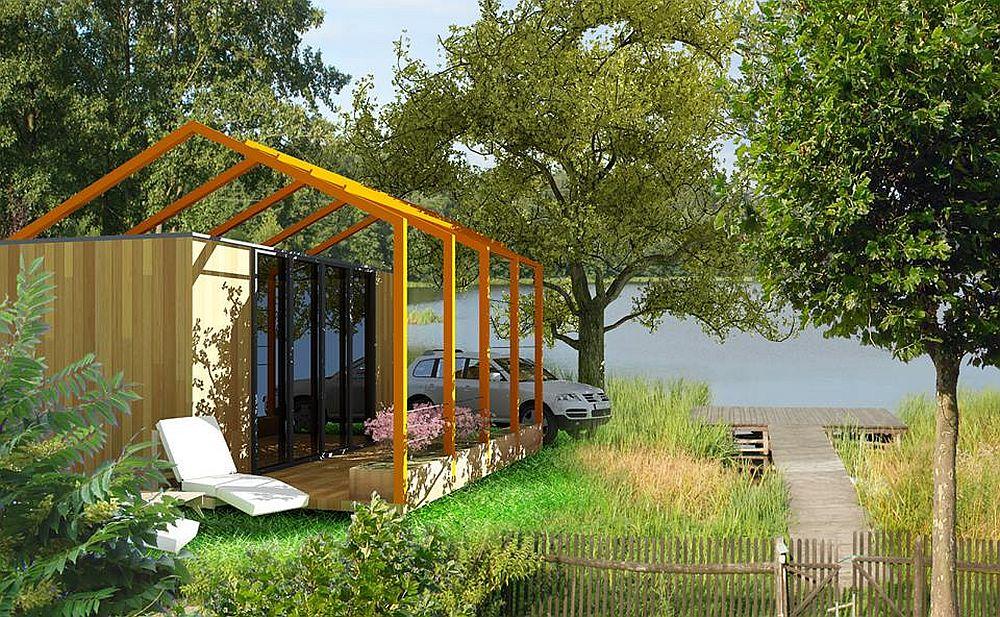 Proiectul lui Constantin Alupoaei de casa din container dintr-un singur modul pret 7500 euro + TVA