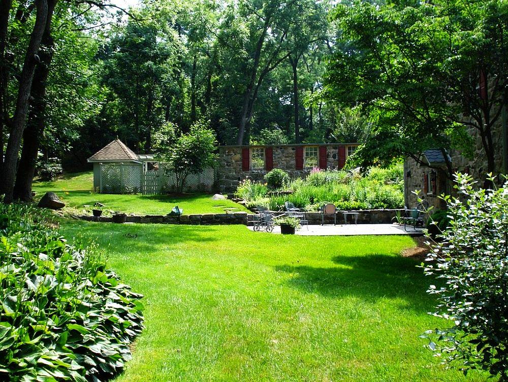 adelaparvu.com despre gradina frumoasa cu gard din piatra, gard ca fatada unei casei, design Slater Associates Landscape Architects (3)