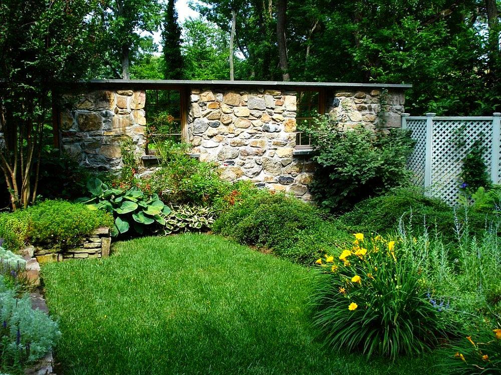 adelaparvu.com despre gradina frumoasa cu gard din piatra, gard ca fatada unei casei, design Slater Associates Landscape Architects (5)