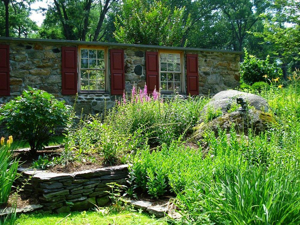 adelaparvu.com despre gradina frumoasa cu gard din piatra, gard ca fatada unei casei, design Slater Associates Landscape Architects (6)