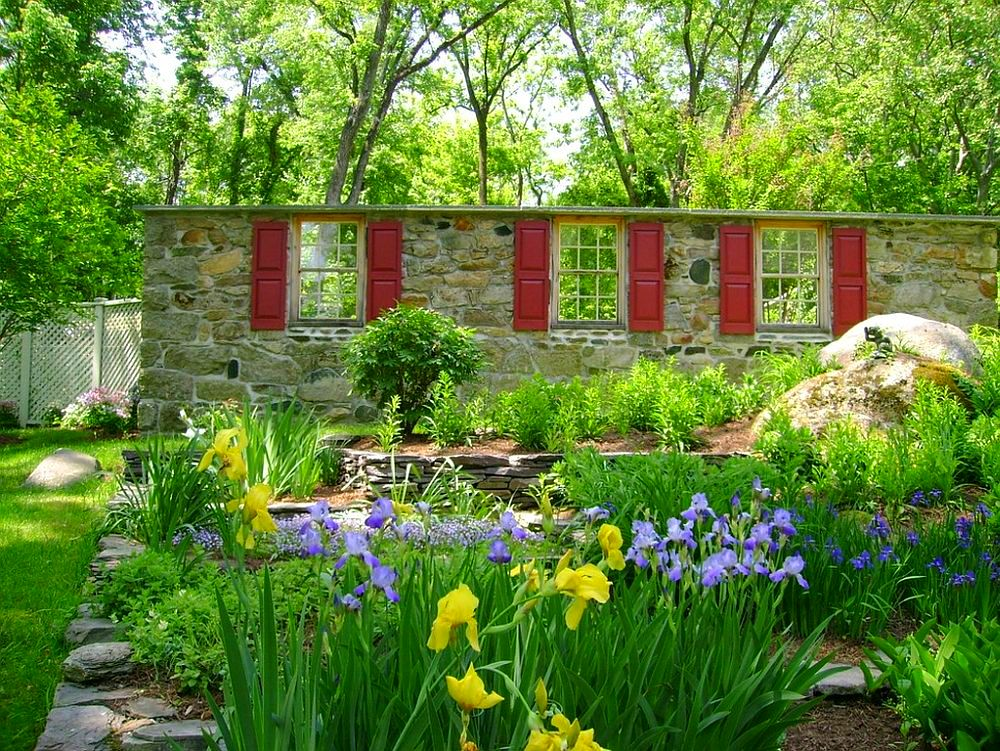 adelaparvu.com despre gradina frumoasa cu gard din piatra, gard ca fatada unei casei, design Slater Associates Landscape Architects (9)