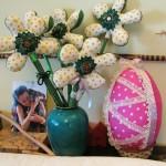 adelaparvu.com despre oua de Paste si flori decorative din textile, designer Mihaela Poenaru (6)