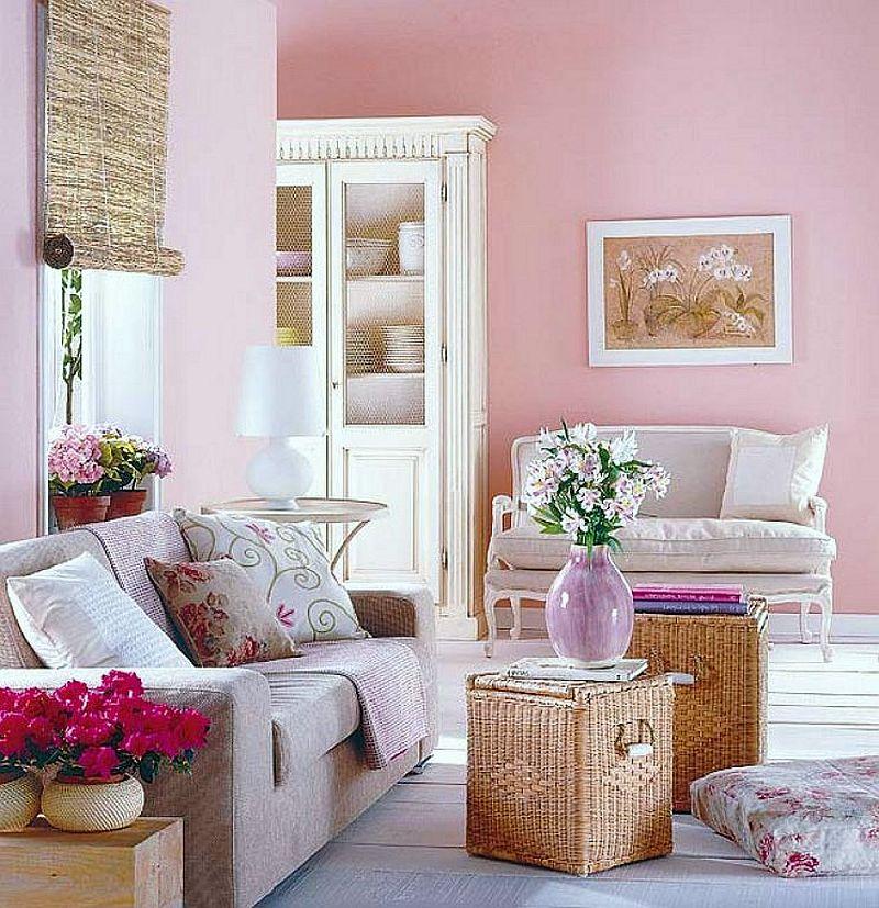adelaparvu.com despre roz pastelat in living, pereti roz in living (2)