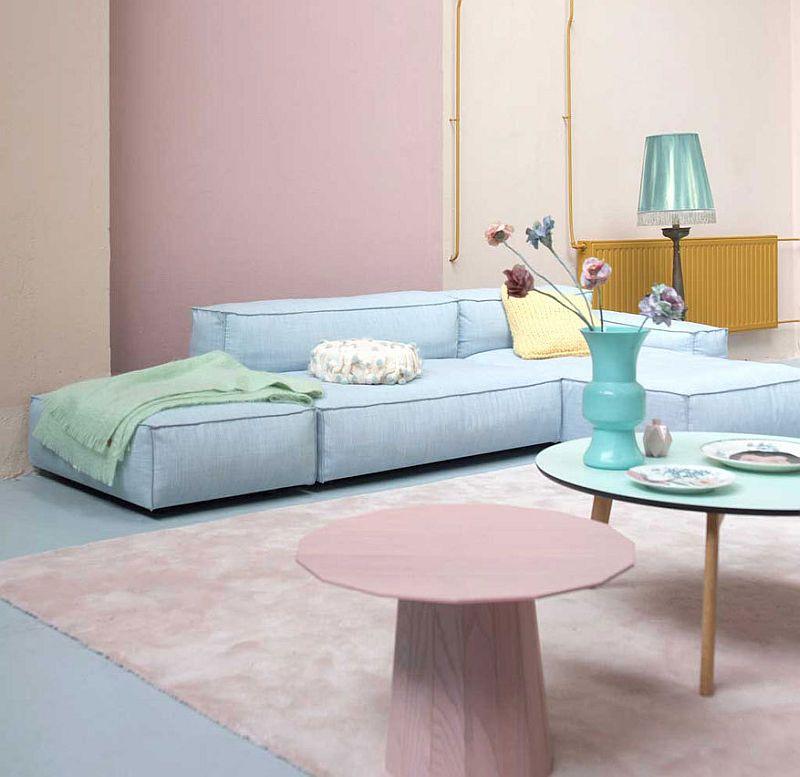 adelaparvu.com despre roz pastelat in living, pereti roz in living (5)