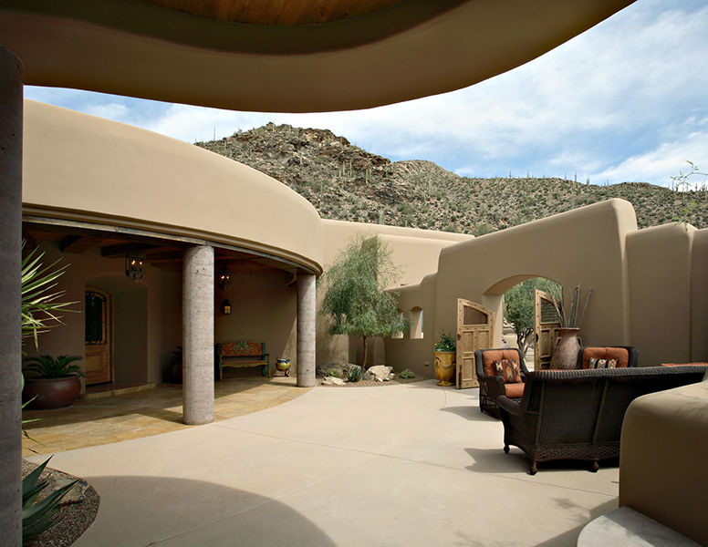 adelaparvu.com despre vila cu arhitectura organica, vila Arizona, casa americana, Robinette Architects (11)