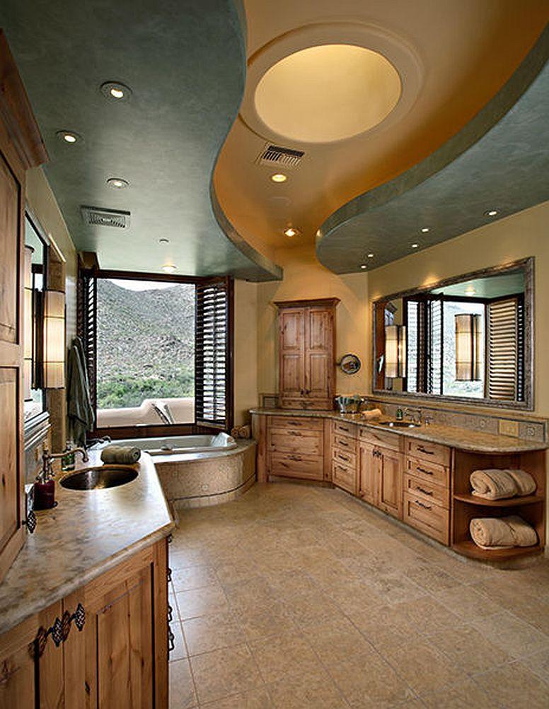 adelaparvu.com despre vila cu arhitectura organica, vila Arizona, casa americana, Robinette Architects (2)
