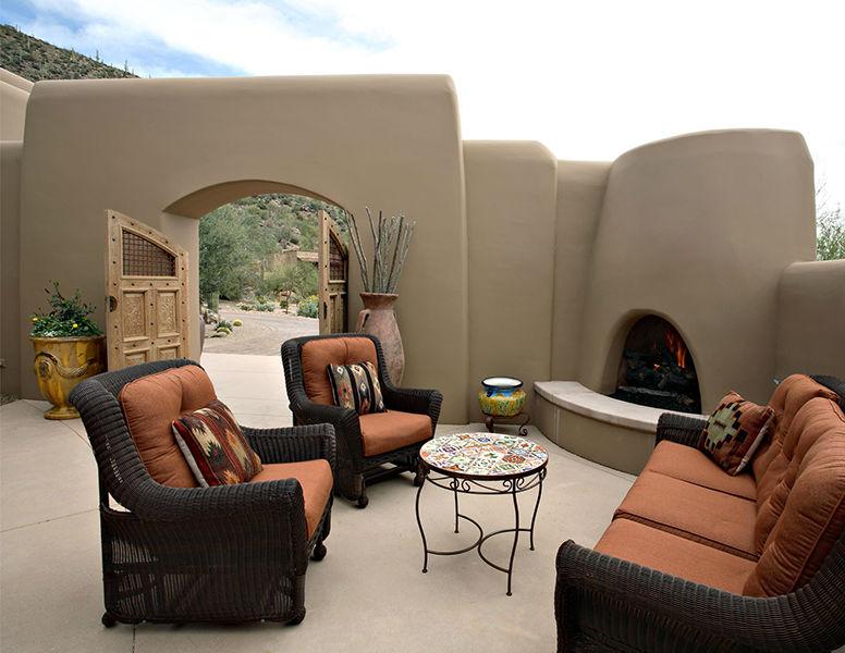 adelaparvu.com despre vila cu arhitectura organica, vila Arizona, casa americana, Robinette Architects (3)