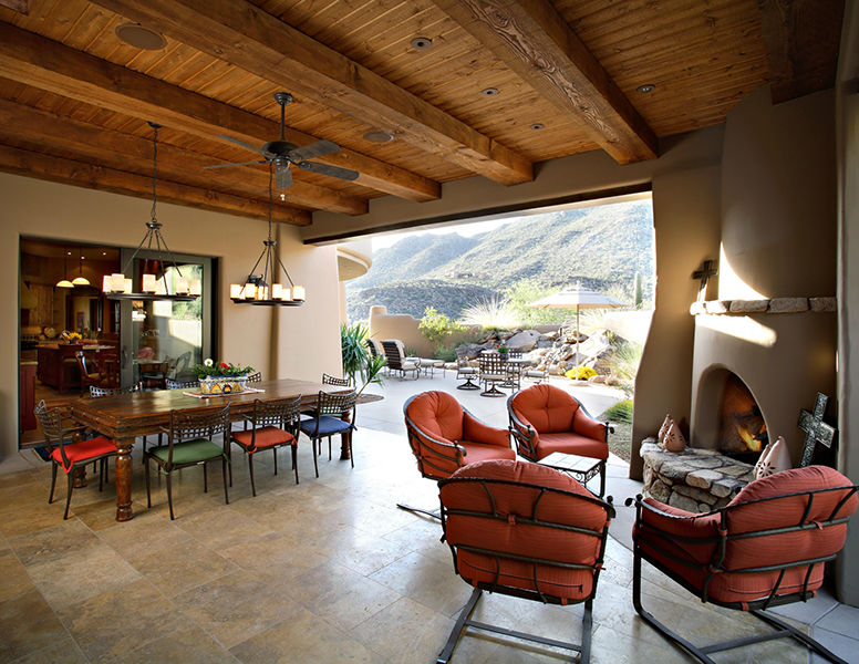 adelaparvu.com despre vila cu arhitectura organica, vila Arizona, casa americana, Robinette Architects (7)