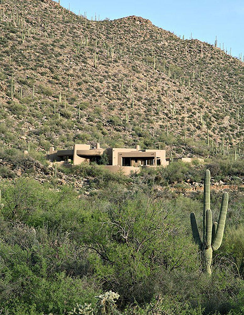 adelaparvu.com despre vila cu arhitectura organica, vila Arizona, casa americana, Robinette Architects (8)