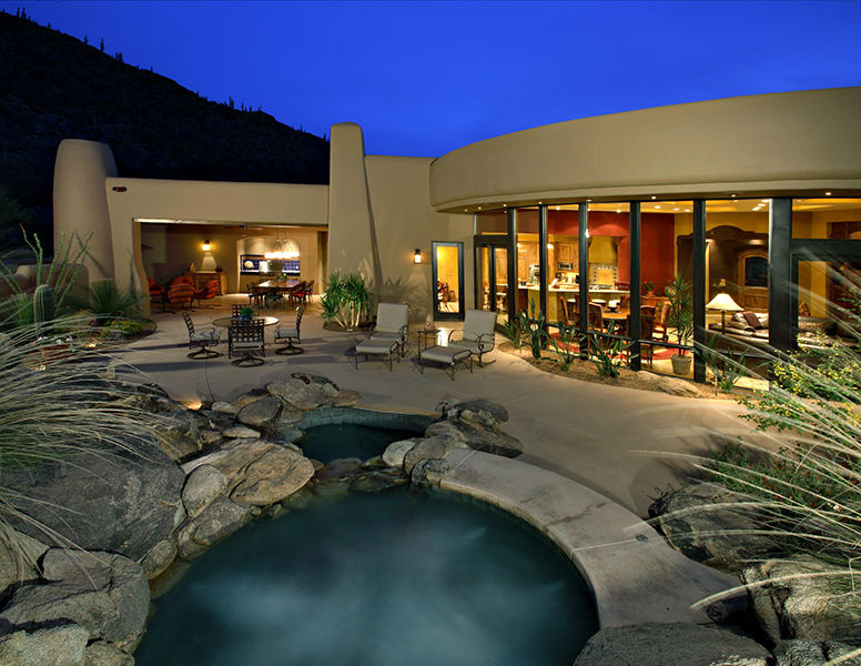adelaparvu.com despre vila cu arhitectura organica, vila Arizona, casa americana, Robinette Architects (9)