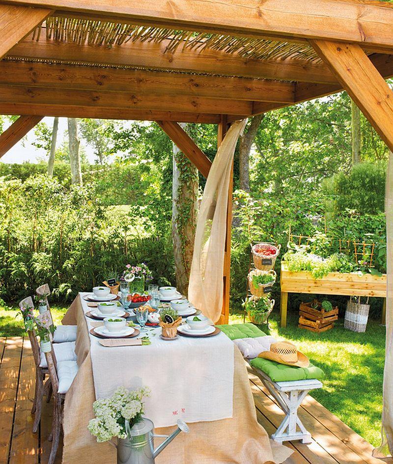 adelaparvu.com idei de pergole si umbrare pentru gradina, Foto ElMueble (13)