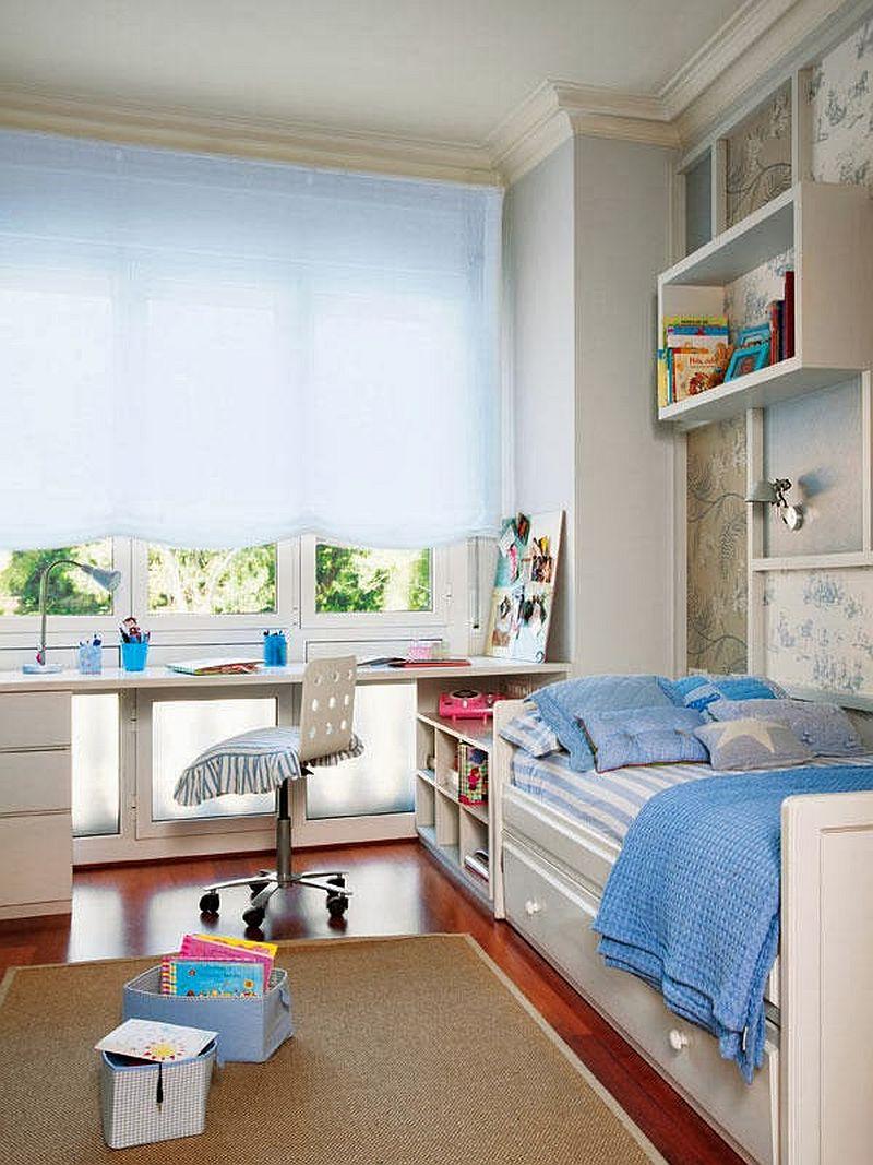adelaparvu.com locuinta cu decoratiuni rosii, camera copilului cu decoratiuni albastre, Foto Mauricio Fuertes, Casa Diez (5)