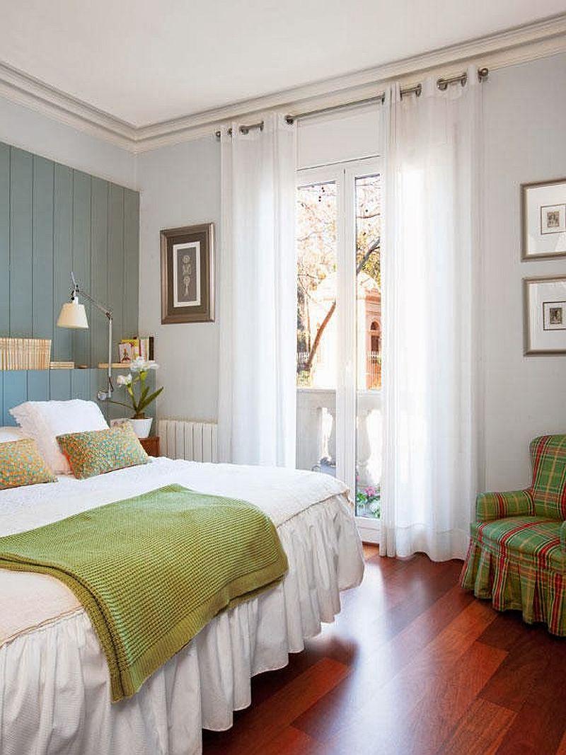 adelaparvu.com locuinta cu decoratiuni rosii, dormitor cu verde si albastru si parchet de cires, Foto Mauricio Fuertes, Casa Diez (7)