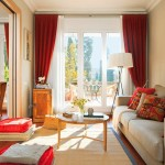 adelaparvu.com locuinta cu decoratiuni rosii, living cu draperii rosii, Foto Mauricio Fuertes, Casa Diez (1)