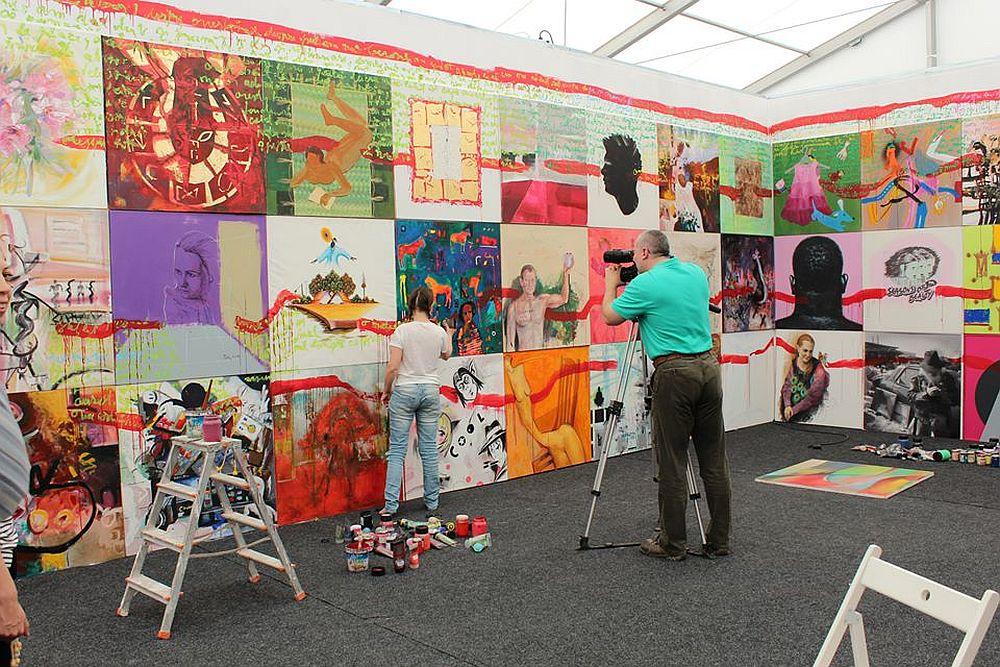 adelaparvu.com despre Art Safari 2014, stand ICR, artist Mirela Traistaru, proiect Add to address book (1)