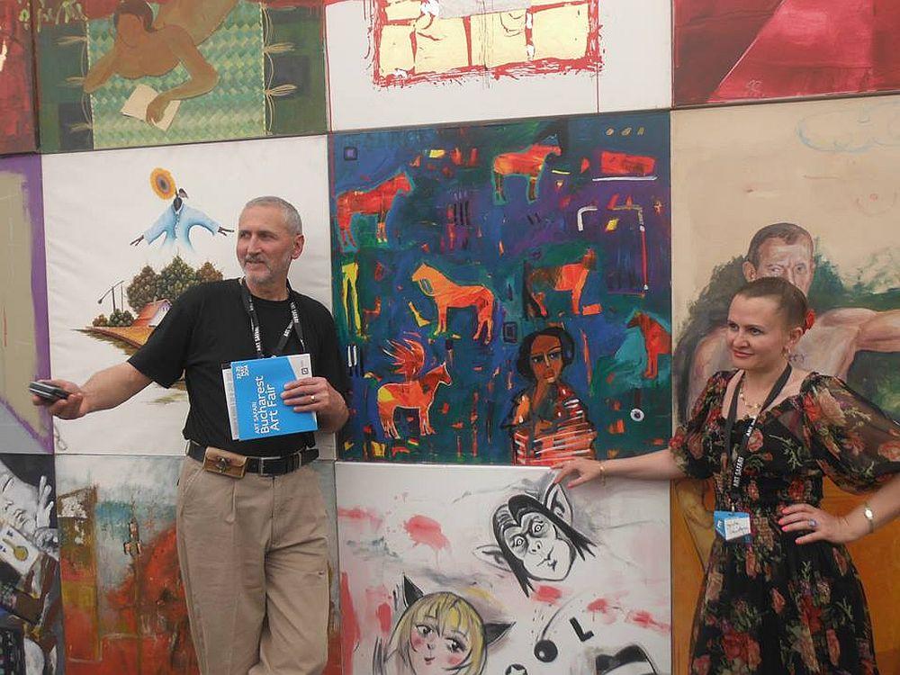 Artistul Andor Komives cu Mirela Traistaru