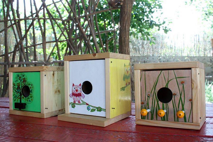 Casute de pasari create de Mihai Duhovnicu, atelierul de la tara
