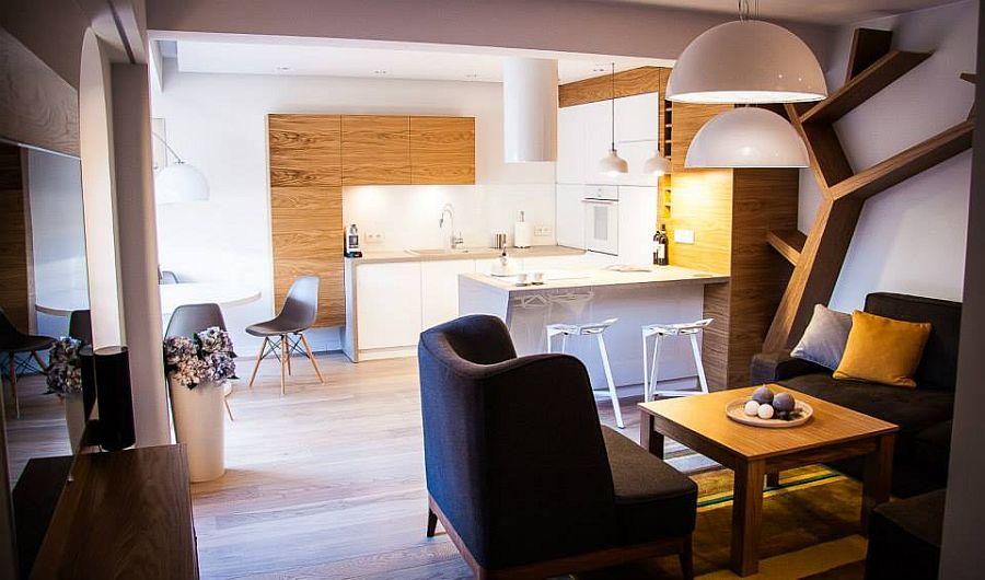 adelaparvu.com despre apartament de doua camere cu finisaje din lemn, design Studio Formy (3)