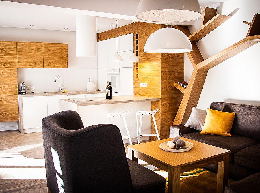 adelaparvu.com despre apartament de doua camere cu finisaje din lemn, design Studio Formy (5)