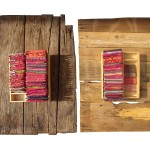 Artist Dorina Horatau, Luate de-a gata, asamblaj, lemn invechit si pernute imprimate manual cu umplutura din iarba uscata si roinita