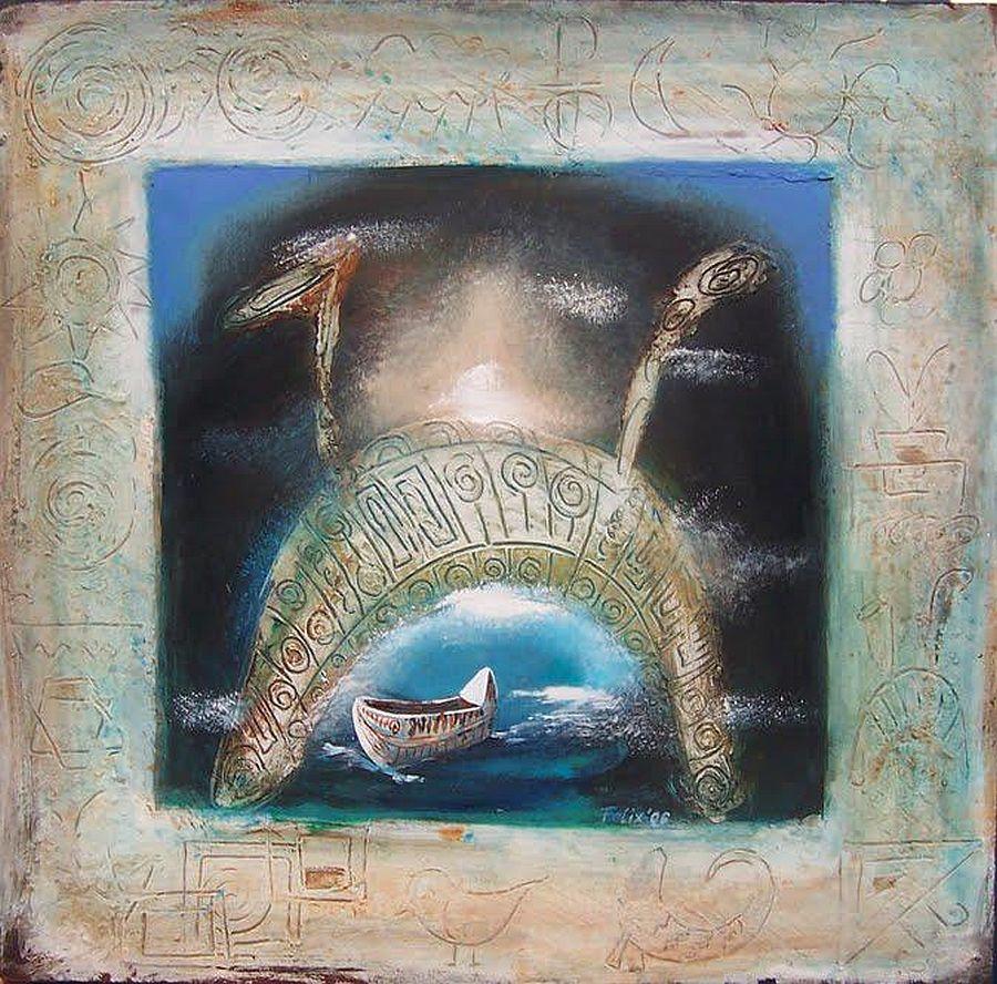 adelaparvu.com despre artist Felix Albus, picturi acrilic pe lemn (3)