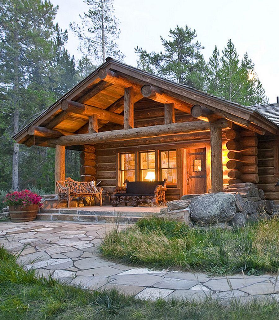 adelaparvu.com despre cabana din barne de lemn, casa de vacanta din barne de lemn, Lost Creek Jackson, arhitecti Ellis Nunn and Associates (1)