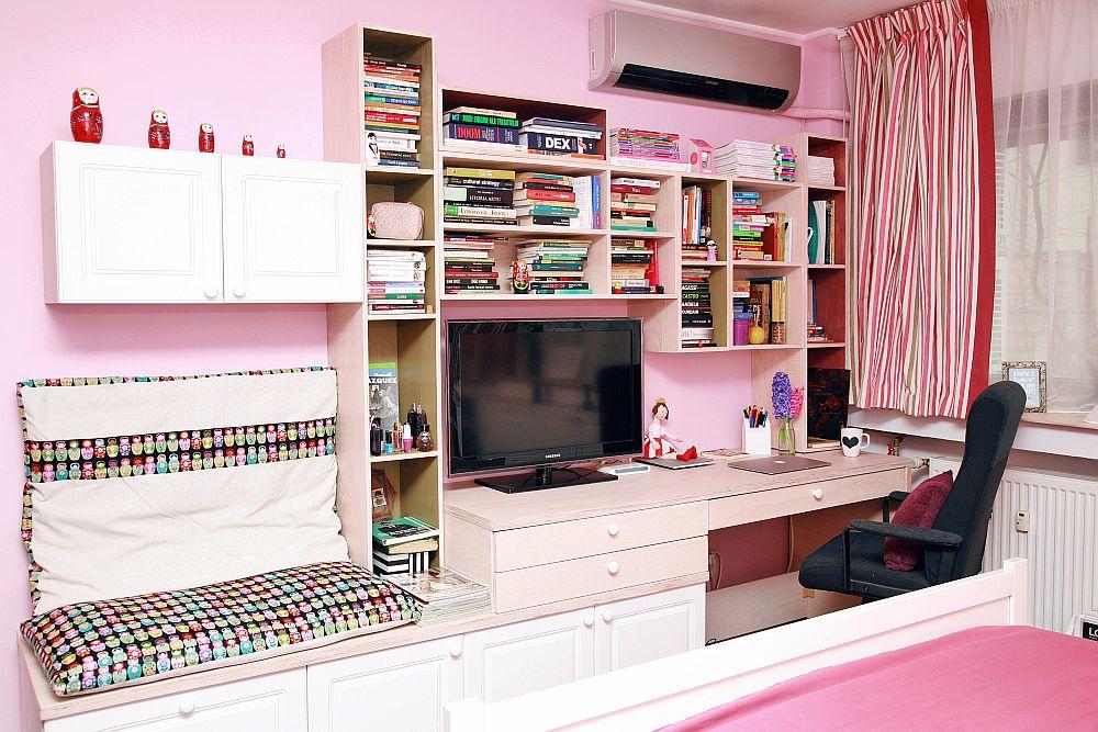 adelaparvu.com despre camera de tineret 16 mp, camera Raisei dormitor si loc de birou, design Alia Bakutayan si Daniel Tufis, Foto Valdecor (2)