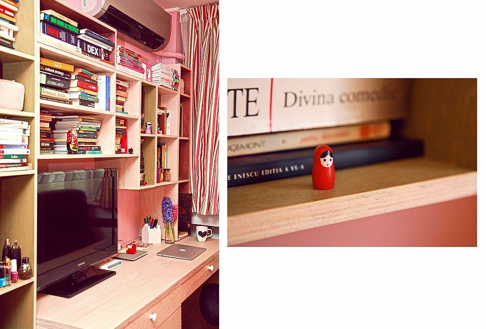 adelaparvu.com despre camera de tineret 16 mp, camera Raisei dormitor si loc de birou, design Alia Bakutayan si Daniel Tufis, Foto Valdecor (21)