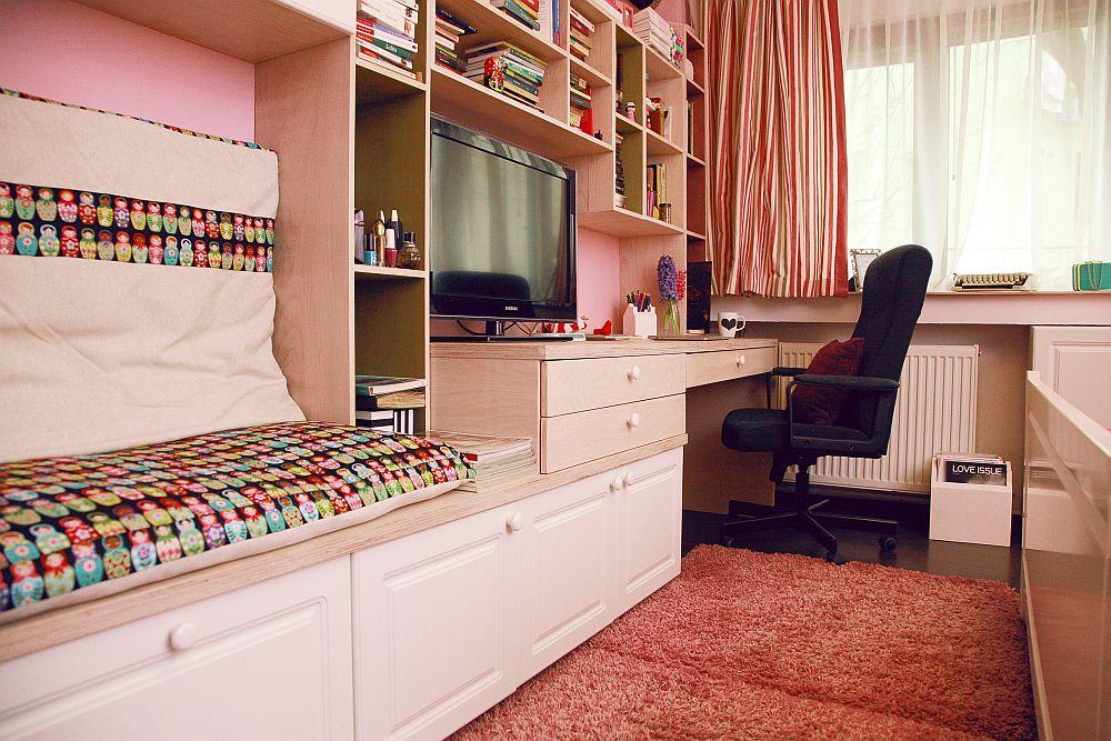 adelaparvu.com despre camera de tineret 16 mp, camera Raisei dormitor si loc de birou, design Alia Bakutayan si Daniel Tufis, Foto Valdecor (4)