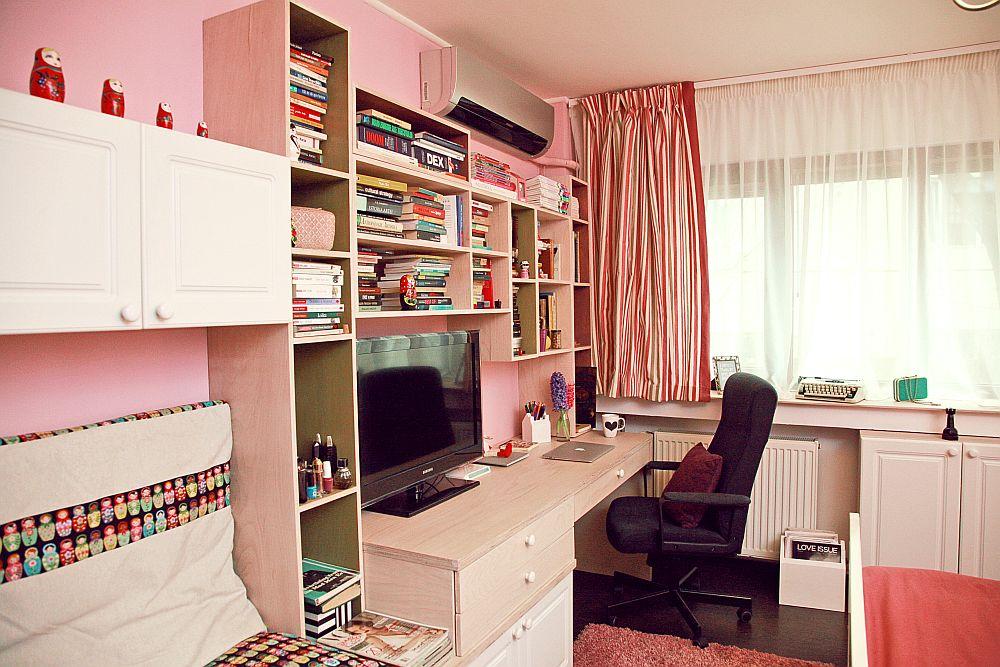 adelaparvu.com despre camera de tineret 16 mp, camera Raisei dormitor si loc de birou, design Alia Bakutayan si Daniel Tufis, Foto Valdecor (5)
