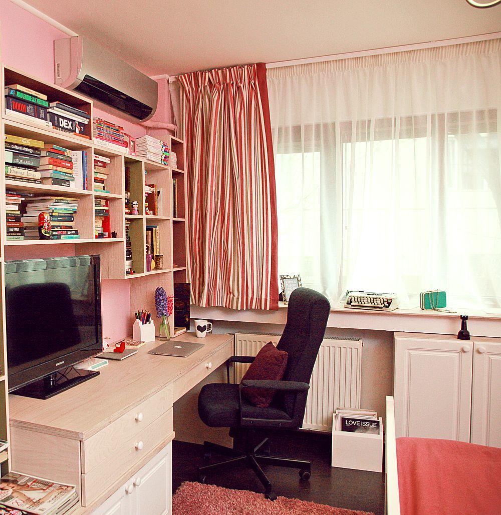 adelaparvu.com despre camera de tineret 16 mp, camera Raisei dormitor si loc de birou, design Alia Bakutayan si Daniel Tufis, Foto Valdecor (6)