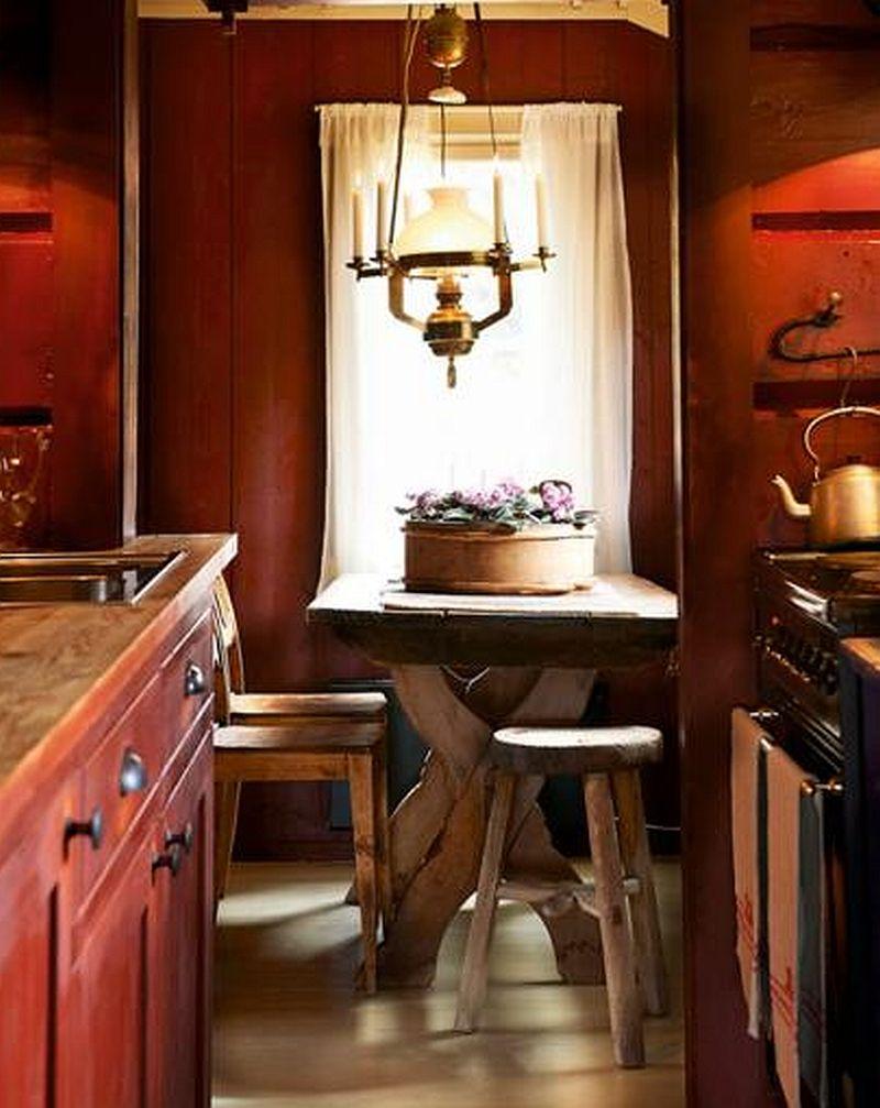 adelaparvu.com despre casa de vacanta din lemn, casa suedeza, interior rustic transformat, Foto Jan Larsen-S (11)