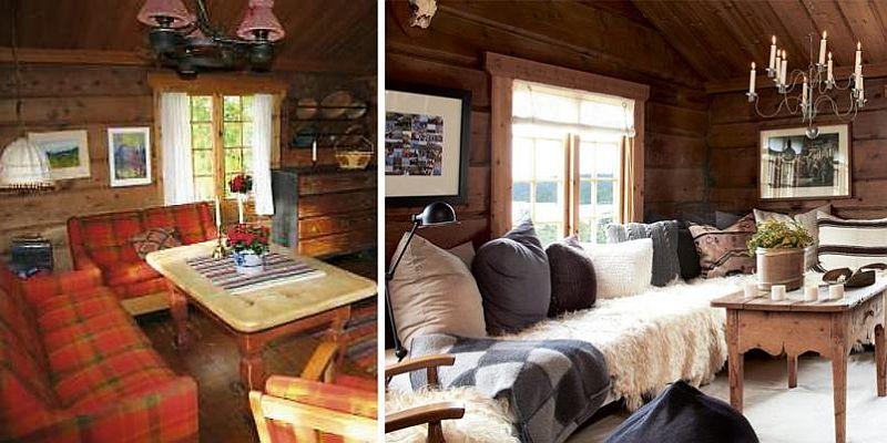 Livingul inainte si dupa redecorare