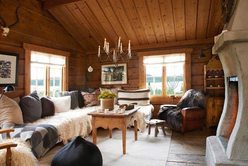 adelaparvu.com despre casa de vacanta din lemn, casa suedeza, interior rustic transformat, Foto Jan Larsen-S (3)