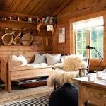 adelaparvu.com despre casa de vacanta din lemn, casa suedeza, interior rustic transformat, Foto Jan Larsen-S (6)