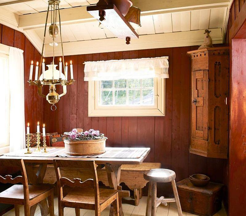 adelaparvu.com despre casa de vacanta din lemn, casa suedeza, interior rustic transformat, Foto Jan Larsen-S (8)