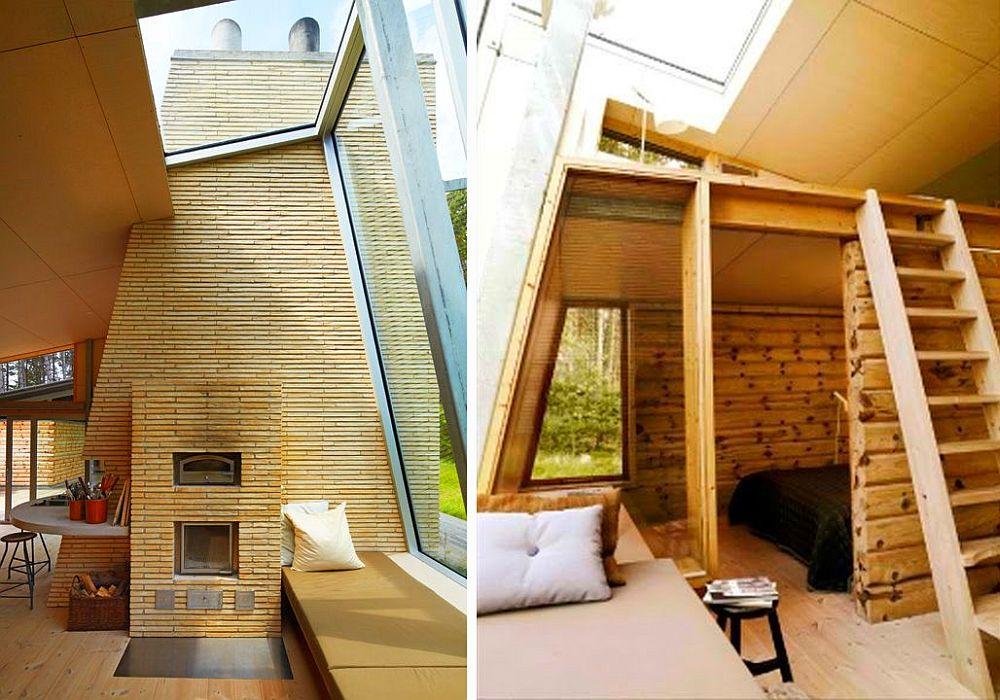 adelaparvu.com despre casa de vacanta moderna, casa daneza, casa din busteni de lemn moderna, arhitect Jesper Brask, Tree House (1)