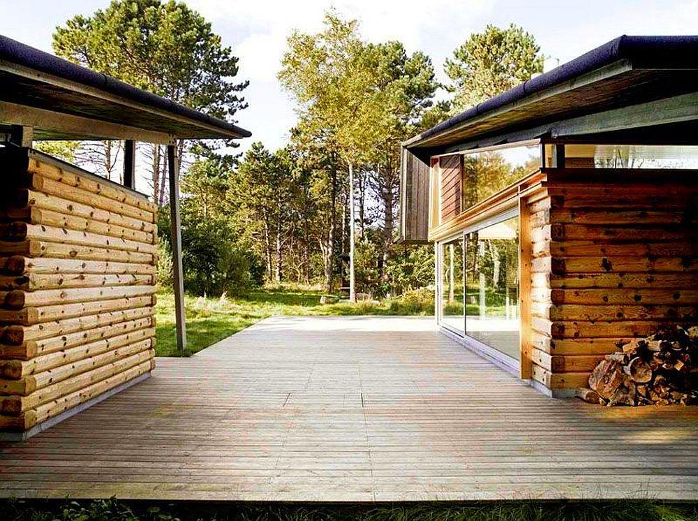 adelaparvu.com despre casa de vacanta moderna, casa daneza, casa din busteni de lemn moderna, arhitect Jesper Brask, Tree House (11)