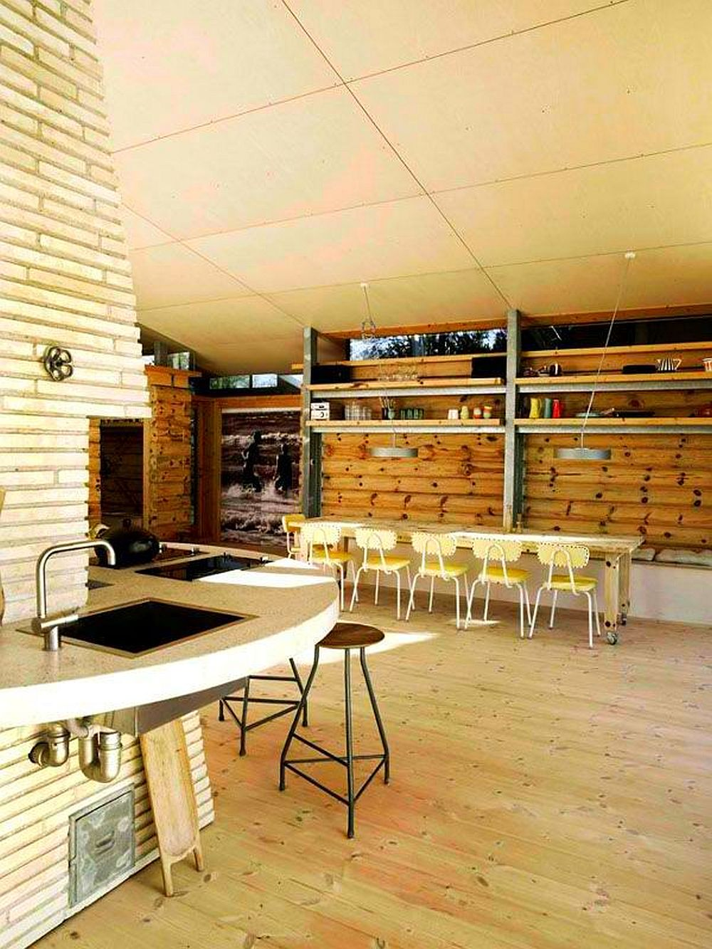 adelaparvu.com despre casa de vacanta moderna, casa daneza, casa din busteni de lemn moderna, arhitect Jesper Brask, Tree House (12)
