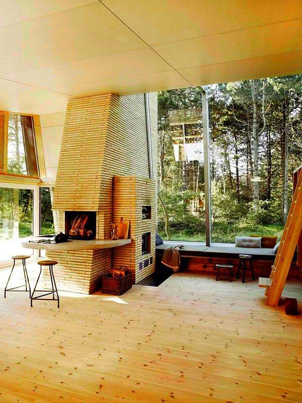 adelaparvu.com despre casa de vacanta moderna, casa daneza, casa din busteni de lemn moderna, arhitect Jesper Brask, Tree House (13)
