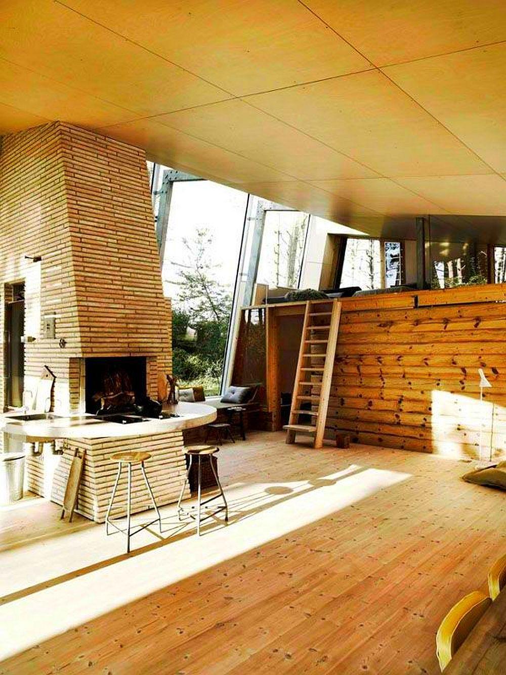 adelaparvu.com despre casa de vacanta moderna, casa daneza, casa din busteni de lemn moderna, arhitect Jesper Brask, Tree House (14)