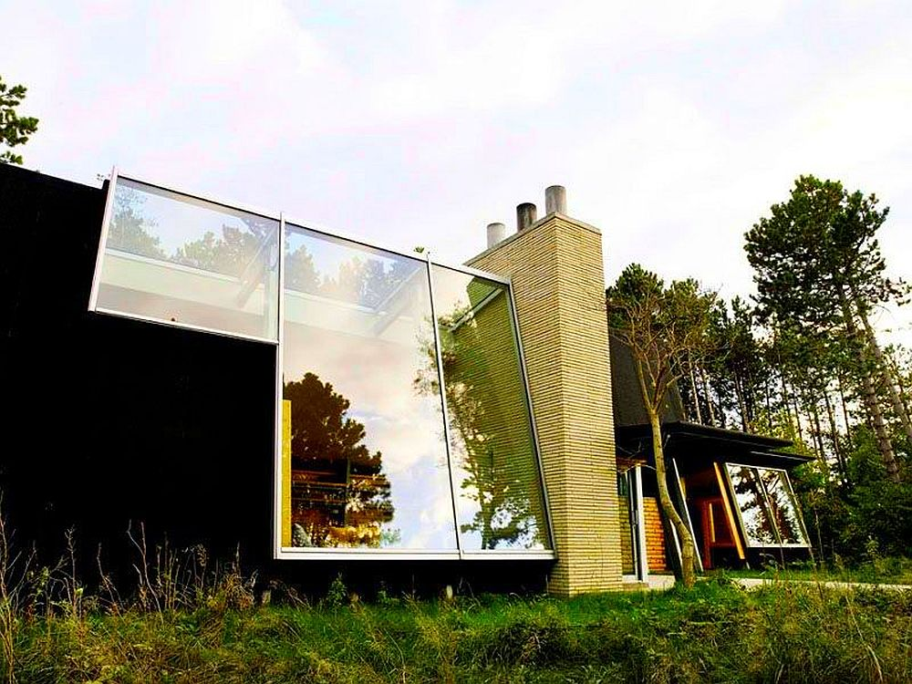 adelaparvu.com despre casa de vacanta moderna, casa daneza, casa din busteni de lemn moderna, arhitect Jesper Brask, Tree House (15)
