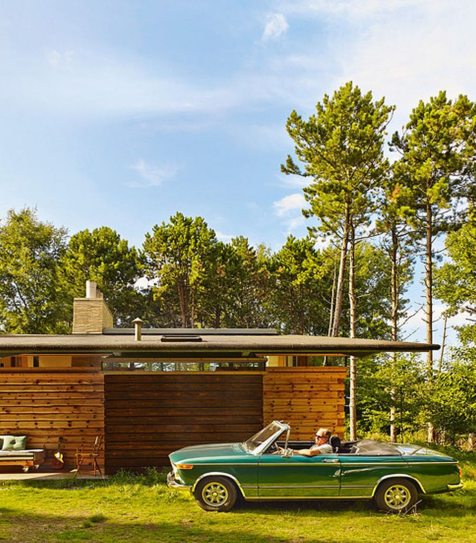 adelaparvu.com despre casa de vacanta moderna, casa daneza, casa din busteni de lemn moderna, arhitect Jesper Brask, Tree House (4)