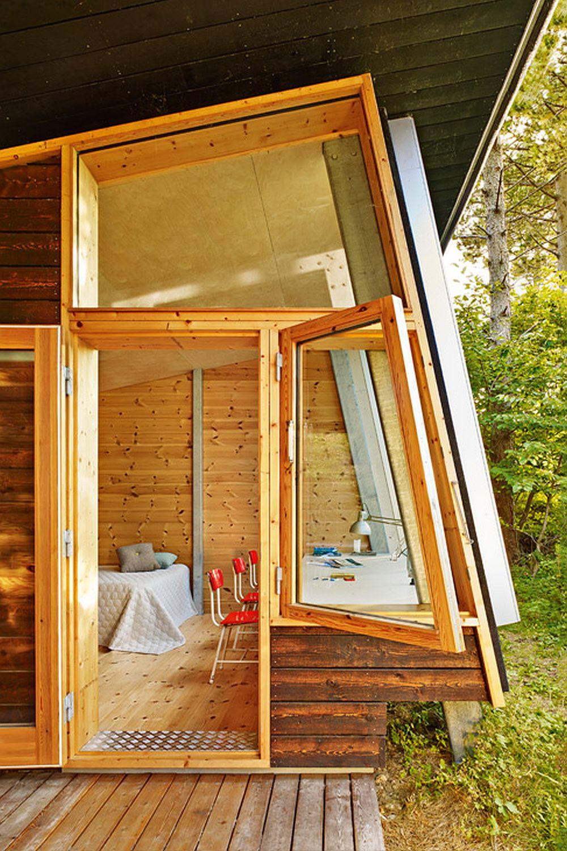adelaparvu.com despre casa de vacanta moderna, casa daneza, casa din busteni de lemn moderna, arhitect Jesper Brask, Tree House (5)