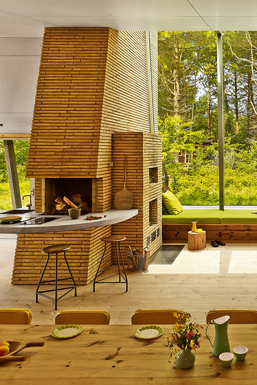 adelaparvu.com despre casa de vacanta moderna, casa daneza, casa din busteni de lemn moderna, arhitect Jesper Brask, Tree House (8)