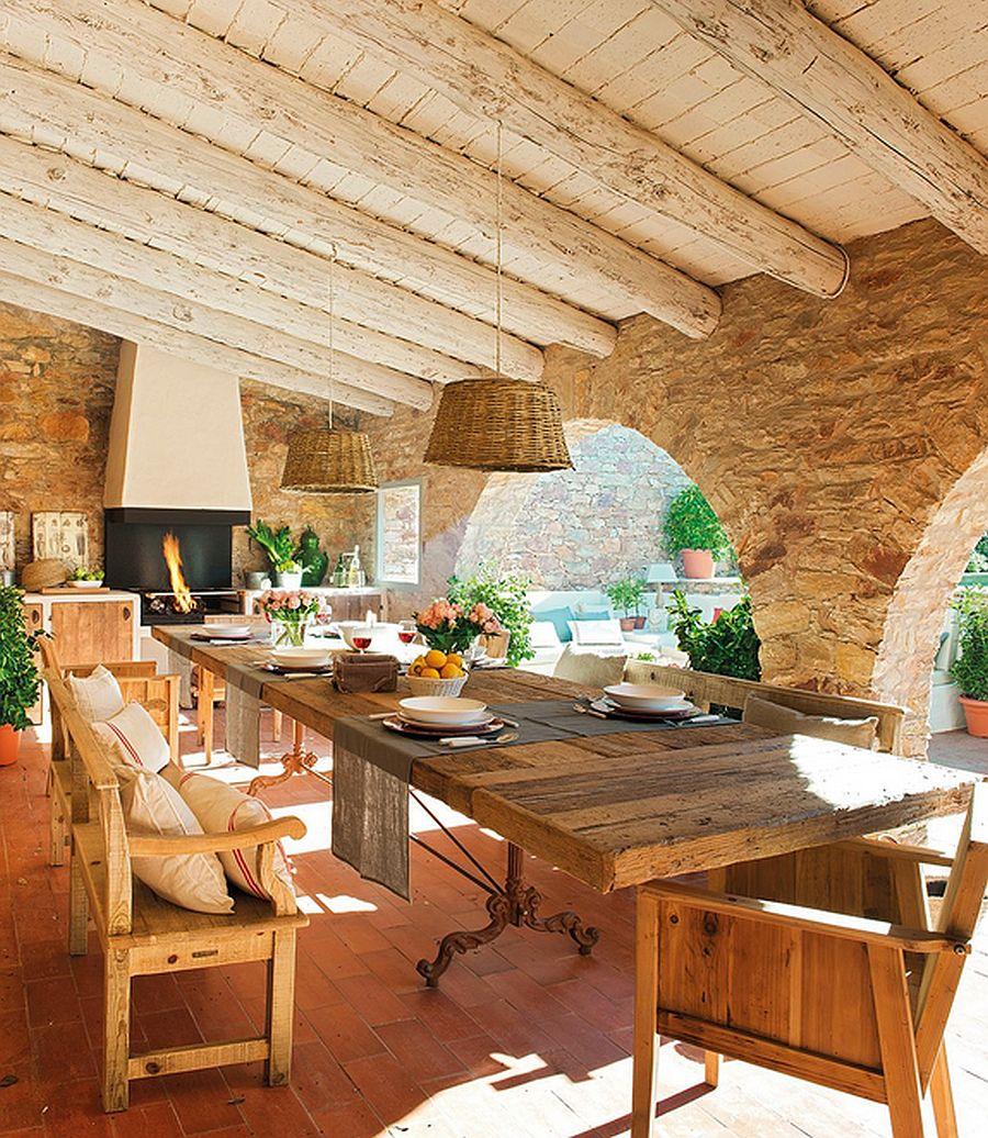 adelaparvu.com despre casa din piatra cu veranda si bucatarie de vara, casa Spania, Costa Brava, design Produccions de Disseny Bellera, Foto ElMueble (2)