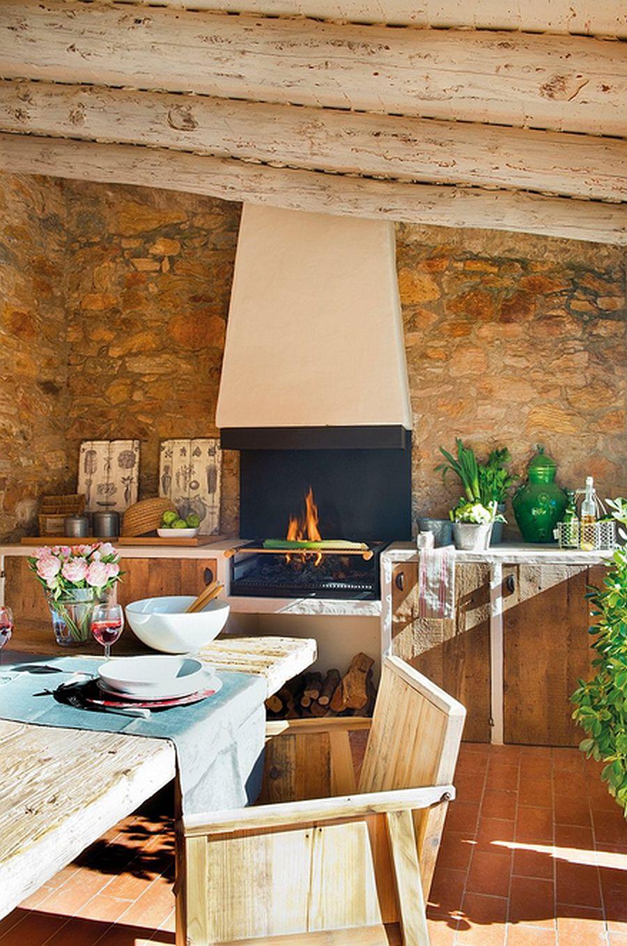 adelaparvu.com despre casa din piatra cu veranda si bucatarie de vara, casa Spania, Costa Brava, design Produccions de Disseny Bellera, Foto ElMueble (3)